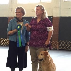 Judge Carol Mett with a proud winner.